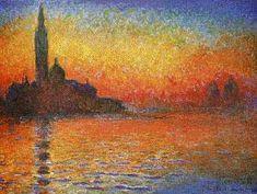 Monet ~ Saint-Georges Majeur au crépuscule (1908)