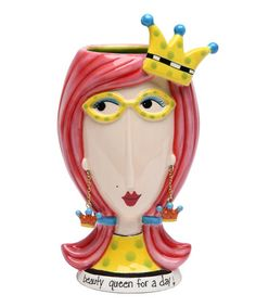 Another great find on #zulily! 'Beauty Queen for a Day' Vase #zulilyfinds