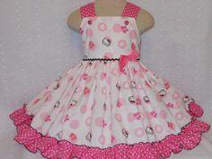 Hello Kitty DressGirls Hello Kitty by MyPrincessandHerDoll on Etsy