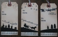Stampin' on the Prairie: Christmas Gift tags, Stampin' Up! Sleigh Ride Edgelits dies
