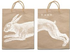 paper bag with hare