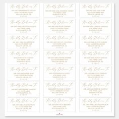 Delicate Gold Calligraphy Guest Address Labels Christmas Wedding Invitations, Wedding Envelopes, Beautiful Wedding Invitations, Wedding Favors, Design Your Own Stickers, Custom Stickers, Gold Save The Dates, Gold Calligraphy, Wedding Planning Inspiration