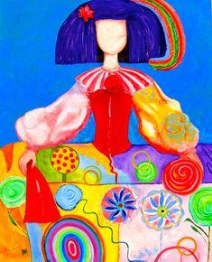 Menina Natalie oil on canvas / Mixed Technique buy at www. Oil On Canvas, Canvas Art, Sip N Paint, Beach Art, Various Artists, Art Plastique, Art Fair, All Art, Glass Art