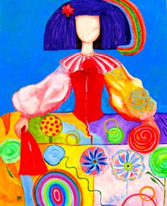 Menina Natalie (2013), Oil on Canvas / Mixed Technique82 X 72 cm
