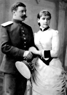 Princess Olga Valerianovna Paley as a young woman, with her first husband