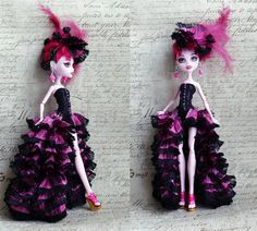 Monster High Clothes hand made Dress, Monster High clothes, Jewelry Set, ball… Monster High Crafts, Monster High Clothes, Monster High Custom, Monster High Repaint, Monster High Dolls, Mimi Chat, Spanish Dress, Gothic Dolls, Doll Repaint