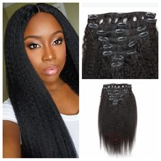 Natural looking clip in kinky curly human hair extensions 8pcsset natural looking clip in kinky curly human hair extensions 8pcsset 200g full head best quality brazilian hair free shipping pinterest pmusecretfo Images
