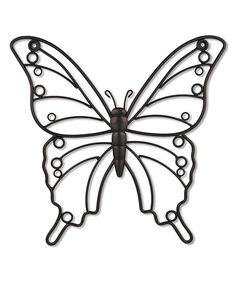 Look at this Dark Bronze Butterfly Wall Art on #zulily today!