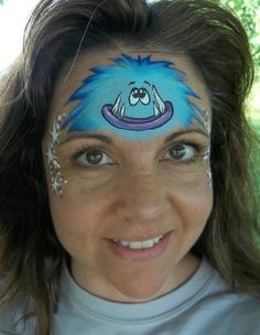 Blue Monster Face Paint