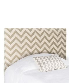 Another great find on #zulily! Taylor Gray & White Zigzag Headboard #zulilyfinds