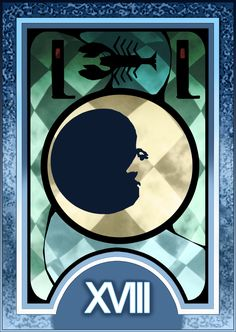 Persona 3/4 Tarot Card Deck HR - The Moon Arcana by Enetirnel