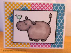 cute card made with a digital stamp