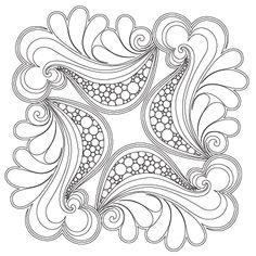 Sea Foam Feathers Block 1 - Digital SSQ-SFF-BLK_DIGITAL