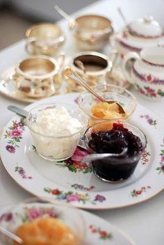 clotted cream jam and lemon curd