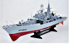 """﹩69.99. HT2879 Destroyer Battleship Warship RC Boat 2 CH Remote Control 31"""" 1:115 New    Type - Remote Control, Fuel Source - Electric, State of Assembly - Ready-to-Go, Scale - 1:115, Gender - Boys  Girls, Model - Destroyer"""