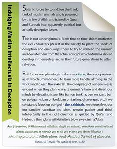 Indulging Muslim Intellectuals in Deception