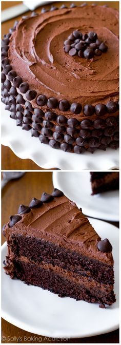Ingredients: Yield: serves 12  Devil's Food Chocolate Layer Cake:  1 and 3/4 cups (220g) all-purpose flour  1 and 3/4 cup (350g) granulated sugar  3/4 cup (65g) un