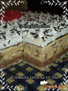 Jednostavne Torte, Brze Torte, Posne Torte, Torte Recepti, Kolaci I Torte, Cookie Desserts, Cookie Recipes, Dessert Recipes, Sweet Desserts