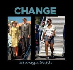 this is my favorite photo of Michelle Obama.  Actions speak louder than words and this photo really shows her mindset.  Keep it classy Michelle! (in a recent interview, MO said she regretted wearing this while stepping off Air Force One, HA!!)