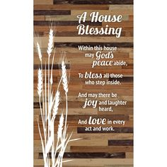 House Blessing Rustic Wood Plaque - Easel & Hanging Hook Inch - Vertical Plaques Wall Art & Tabletop Decoration for Your Home or Office House Blessing, Bible Verse Wall Art, Wood Plaques, New Home Gifts, Sign Quotes, Wood Wall Art, Look Fashion, Rustic Wood, Blessed