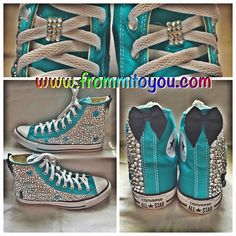 Tiffany Blue Girly Custom Converse by From Mi To You. www.frommitoyou.com #junkchucks#customconverse Special Birthday, Girl Birthday, Custom Converse, Tiffany Blue, Converse Chuck Taylor, All Star, Girly, Shoe, Boys