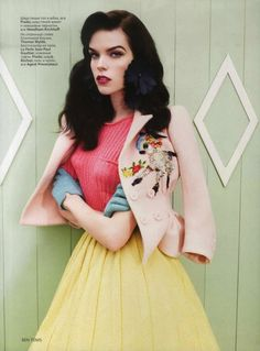 I love the styling of this fab retro shoot by Ben Toms for Vogue Russia.