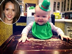 """Luck o' the Irish Jessica Alba got baby Haven all decked out for her first St. """"Happy St Paddy's Day everyone! Happy St Paddys Day, Pop Culture News, Get Baby, Today Show, Jessica Alba, Lucky Charm, Hollywood Stars, Celebrity News, Babys"""