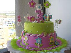Pin Tortas Infantiles Flores Mariposas Hawaii Ajilbabcom Portal on ...
