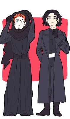 "Hey, someone's got their heights more or less correct! I've developed a huge peeve with all the ""tiny Hux"" art I see. There's only a 1.5"" difference between Driver and Gleeson, people! </rant"
