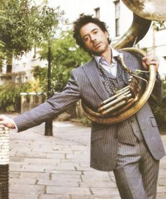 Robert Downey Jr. and a tuba for the win.