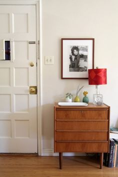 love this little dresser and still life. from Lauren Spencer King's sneak peek on DesignSponge