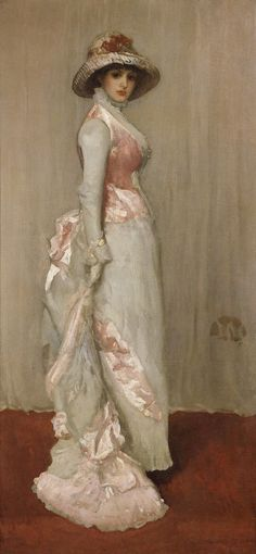 "American Gilded Age painter- (British based) James McNeill Whistler, ""Harmony in Pink and in Grey: Portrait of Lady Meux"", ~~ {cwl} ~~ (Frick Collection). James Abbott Mcneill Whistler, Art Moderne, Portraits, Portrait Paintings, Woman Painting, Oeuvre D'art, American Artists, Illustrations, Pink Grey"