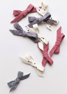 I Like Big Bows: No Sew baby bows made with BIAS TAPE