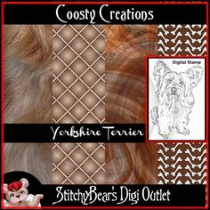 Yorkshire Terrier Digital Stamp and Paper Pack