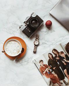 #flatlay #camera #retro #coffee #magazine #lifestyle