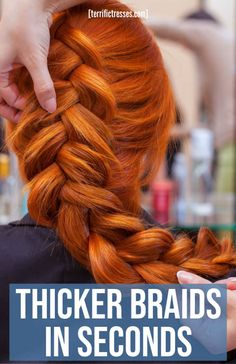 Thicker braids are not just a solution sought for thin hair. Who wouldn't love to know how to make their plaits stand out all lush and luxurious? Such thick braided hairstyles are so romantic. If you want to know how get a plaited style like that it's really simple. So maybe you should check out these tips from the tutorials we dug up that show how to pancake big thick French or Dutch braids. How To Pancakes, Braids For Thin Hair, Thick Braid, Cute Braided Hairstyles, Dutch Braids, Plaits, Lush, Your Hair