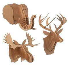 CARDBOARD ANIMAL HEADS   Paper Deer, Moose, Elephant   UncommonGoods