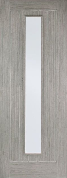 Grooved vertical panels surround a slim, vertical, clear glazed panel, creating a modern and versatile design. Face Type Pre-Finished Light Grey Door Style Somerset Internal Light Grey Glazing N/A