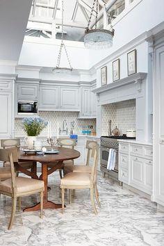 Sarah Richardson Design - London Flat - Publicity (Canadian House & Home - March Sarah Richardson Kitchen, Reclaimed Wood Kitchen, Weathered Wood, Sweet Home, Wood Kitchen Cabinets, Blue Cabinets, Cupboards, Design Blogs, Design Trends