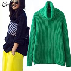 Autumn New Turtleneck Sweaters Women  Winter Warm Sweaters Pullover Knitted Wear Green Sweaters Pull burderry sudaderas QL1976
