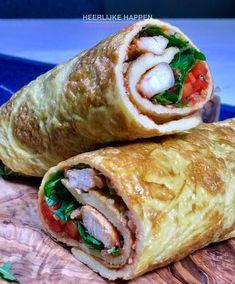 Eiwrap met pittige kip en salsa - Heerlijke Happen Pita Wrap, Paleo, Keto, School Lunch, Fodmap, Nachos, Fresh Rolls, Salad Recipes, Picnic