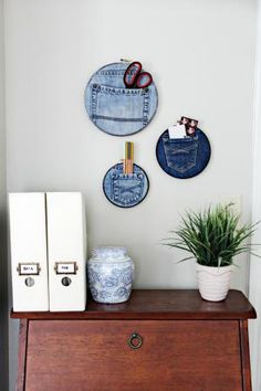 Everyday items like cheap vases, mismatched bowls, CD cases, and books can be upcycled and repurposed into chic home accessories, storage pieces, accent furniture and lighting fixtures.