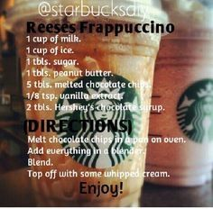 This is definitely as good as it sounds🤗 Homemade Starbucks Recipes, Secret Starbucks Drinks, Starbucks Secret Menu Drinks, Coffee Drink Recipes, Milkshake Recipes, Easy Smoothie Recipes, Milkshakes, Coffee Drinks, Frappe Recipe