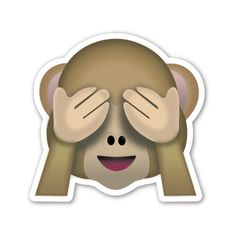 'See no evil monkey emoji' Sticker by totesemotes