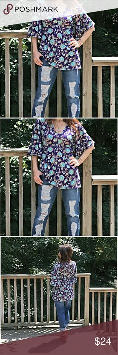 1 DAY SALE🌠BOHEMIAN FLORAL TUNIC🌠 BOHEMIAN FLORAL TUNIC MADE IN USA. Classic Woman Tops Tunics