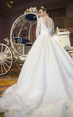 Lovely Limited edition Cinderella movie inspired wedding dress from Disney us Fairy Tale Weddings by Alfred Angelo Bridal Collection