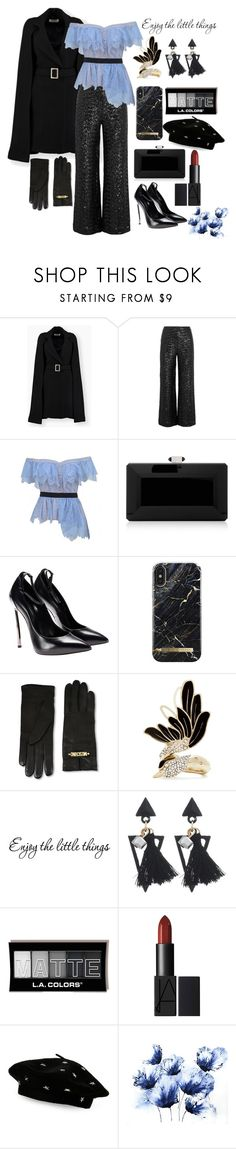 """favorite winter coat."" by foxxyslang ❤ liked on Polyvore featuring Roland Mouret, self-portrait, Judith Leiber, Moschino, Lanvin and Steve Madden"