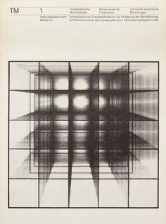 TM SGM RSI, Typographische Monatsblätter, issue 1, 1964. Cover designer: Felix Berman, Photogram by Roger Humbert.