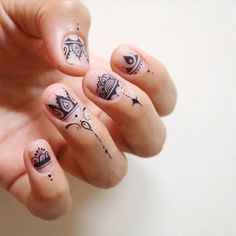110 Best Henna Nail Art Images Nail Polish Art Pretty Nails