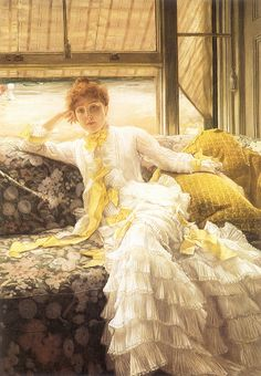 ▴ Artistic Accessories ▴ clothes, jewelry, hats in art - James Tissot | July